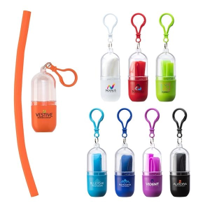 Bellini Silicone Straw in Capsule Case